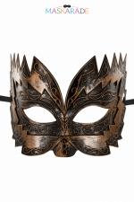 Masque semi-rigide cuivré Don Giovanni : Masque cuivré semi rigide et haut pour jouer les Don Juan en toute discrétion, par Maskarade.