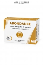 Abondance - Amélioration du sperme (30 comprimés) : Ce complément alimentaire aphrodisiaque masculin augmente le volume de sperme et améliore sa qualité. Cure de 15 à 20 jours.