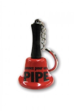 Porte clé clochette - sonnez pour une pipe : Agitez la clochette et l'objet de tous vos fantasmes viendra immédiatement vous prodiguer une fellation, ou pas !