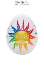 Masturbateur Tenga Egg Shiny Pride Edition : L'incontournable masturbateur masculin Tenga Egg Shiny dans un nouvel habillage Pride Edition arc en ciel.