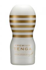 Masturbateur Premium Original Vacuum Cup Gentle - Tenga : Ressentez une fellation d'une douceur inouïe avec la nouvelle version Premium du masturbateur spécial gorge profonde.