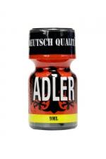 Poppers Adler 10 ml : Arôme liquide érotique à base de Nitrite d'Amyle, très fort, pour utilisateurs aguerris.