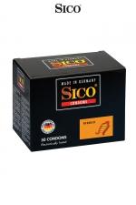 50 préservatifs Sico RIBBED : 50 préservatifs haute qualité avec de fines rainures pour accroitre la stimulation sexuelle de votre partenaire.