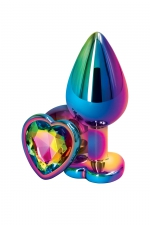 Plug anal aluminium coeur multicolore M - Rear Assets